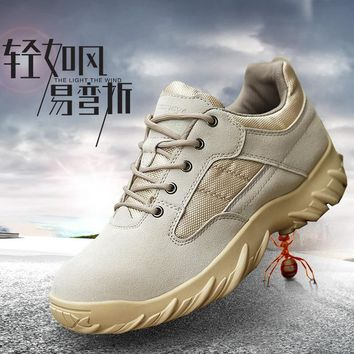 Outdoor Men Hiking Shoes Military Tactical Shoes For Climbing Breathable Lightweight Mountain Boots Botas Senderismo Hombre