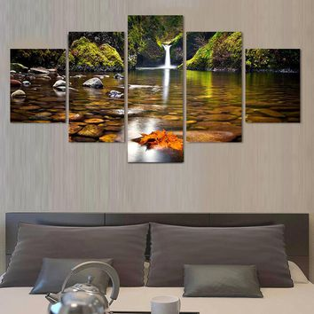 (No Frame)5 Pcs Landscape Painting Modern Home Decor Canvas Art Modular Pictures Painting Wall Poster Painting for Kitchen decor