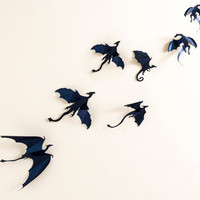 Game of Thrones inspired 7pcs 3D Dragon Silhouette Wall Art