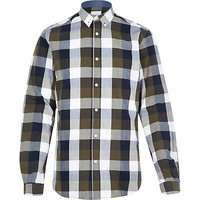 River Island MensGreen Jack & Jones Premium checked shirt