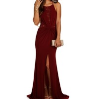 Ruby- Burgundy Homecoming Dress