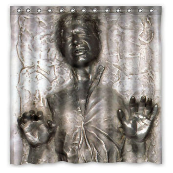 "47"" x 78"" Han Solo in Carbonite Star Wars Waterproof Shower Curtain"