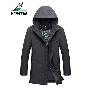 FORTEI Men's Big & Tall Expedition Parka Hooded Puffer Down Jacket Ultra plus size winter jacket for men Fashion 4XL 181