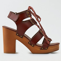 AEO Gladiator Heeled Sandals , Brown