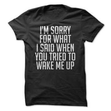 Sorry For What I Said When You Tried To Wake Me Up