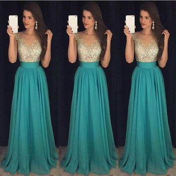 Womnen Vintage Patchwork Lace Dresses Sleeveless Evening Party Formal Chiffon Sequin Dress