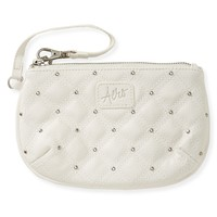 Stud Quilted Round Wristlet