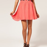 Motel | Motel Sassy Pleated Chiffon Mini Skirt at ASOS