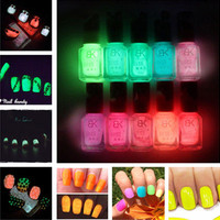 12 Candy Colors Night Luminous Gel Nail Polish UV Candy Color Shimmer Fluorescent Gloss Lacquer Varnish Art Nail Gel Polish