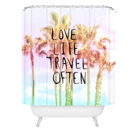 Lisa Argyropoulos Love Life Travel Often Tropical Shower Curtain