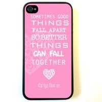 iPhone 4 Case Silicone Case Protective iPhone 4/4s Case Marilyn Monroe Quote Love Pink