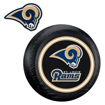 St. Louis Rams NFL Spare Tire Cover and Grille Logo Set (Regular)