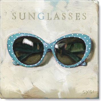 Gallery Wrap on Wood Frame ~ Sunglasses Sign