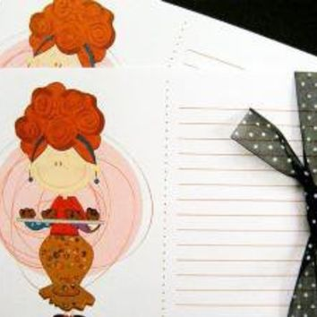 Hot out of the OvenSet of 12 Recipe Cards by littletoad on Etsy