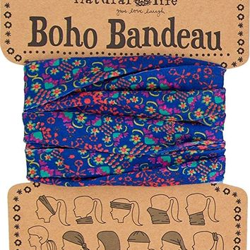 Women's Boho Bandeau, Purple and Red, One Size