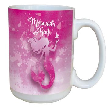 Wanna Be A Mermaid Mug - Large 15 oz Ceramic Coffee Mug