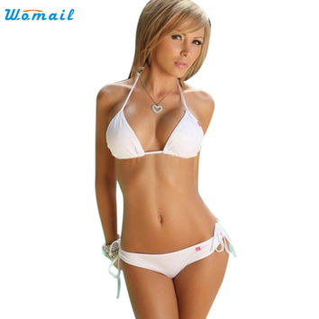 2016 Hot Women Bikinis Set Female Push-up Bandeau Bra Bandage Swimsuit Bathing Suit Swimwear Lady bikinis set Activing AU3X13