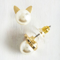 Cats Smiles Purr Hour Earrings by ModCloth