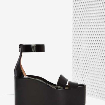 Jeffrey Campbell Rikki Leather Platform