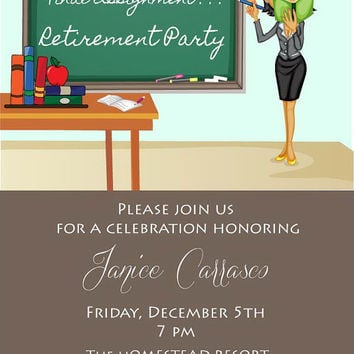 Teacher Retirement Invitation • Retirement Party Invite • Printable Digital File
