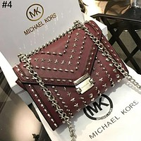 MK personality wild chain small square bag star rivet bag female shoulder bag #4