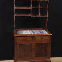 Canonbury - Antique Chinese Hardwood Dresser Circa 1850 Cabinet Bookcase