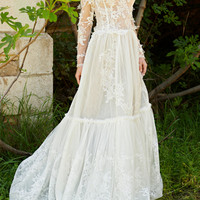 Lace Off-The-Shoulder Gown | Moda Operandi