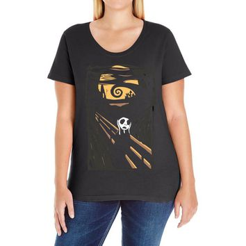 burton's scream Ladies Curvy T-Shirt