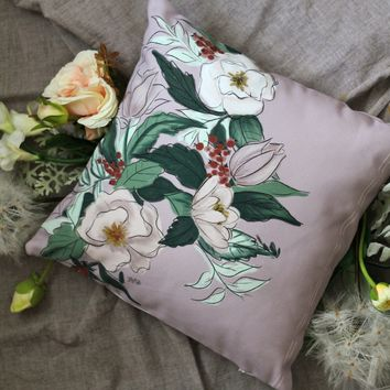 Limited Edition - Handmade Floral Pillow