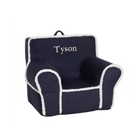 Navy with Cream Sherpa Anywhere Chair | Pottery Barn Kids