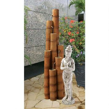 Cascading Bamboo Sculptural Fountain - SS8416 - Design Toscano