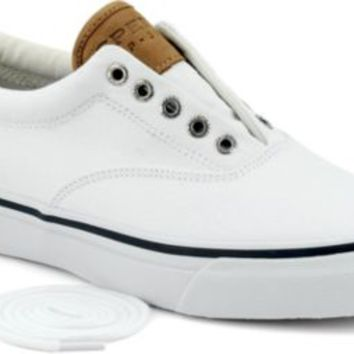 Sperry Top-Sider Striper CVO Salt Washed Twill Sneaker WhiteSaltWashedTwill, Size 7.5M  Men's Shoes