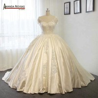 Stunning Satin Wedding Dress Ball Gown Wedding Dresses