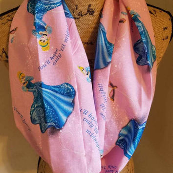 disney - princess - Cinderella - glass - slipper - prince - charming - infinity  - scarf