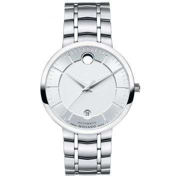 Men's Movado 1881 Automatic Silver-Tone Dial Watch