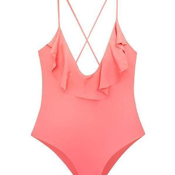MAYLANA Emilie Peach One Piece