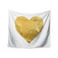 "KESS Original ""Heart of Gold"" Wall Tapestry"