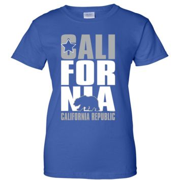 California Republic Raiders Style Ladies T-Shirt
