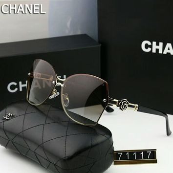 Chanel Trending Women Men Stylish Sunglasses Sun Shades Eyeglasses Glasses #3 Light Coffee I-A-SDYJ