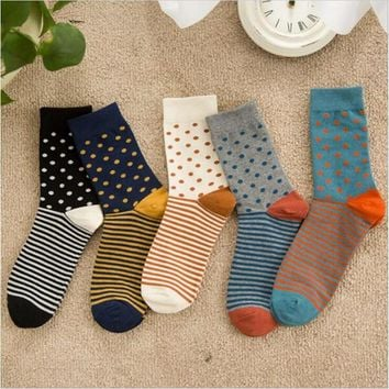 High Quality Cotton Polka Dot Socks