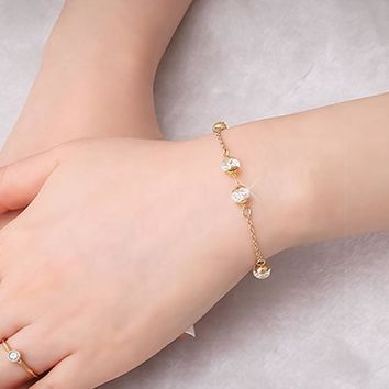 Madison 14K Gold Plated Chain Bracelet