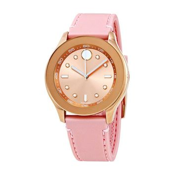 Movado Bold Sports Rose Gold Sunray Ladies Watch 3600426