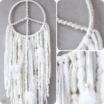 The Snow Owl Native Style Handwoven Dreamcatcher