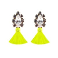 Frieda and NellieAll the Tassel Earring Neon Yellow