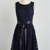 Mid-length Sleeveless A-line Lovely as Lychee Dress in Navy by ModCloth