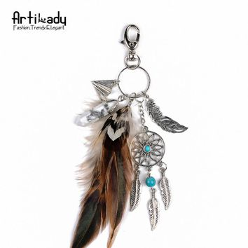 Feather Dreamcatcher Keychain