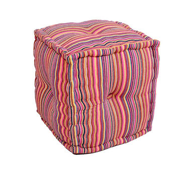 Cube Ottoman,Pouf Cover, Floor Pouf Cover, Ottoman Cover, Pouf Ottoman, Indian Pouf, Outdoor Pouf, Square Pouf Cover
