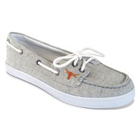 Campus Cruzerz Texas Longhorns Kauai Boat Shoes - Women (Grey)