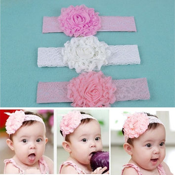 Baby Kid Girl Toddler Lace Bow Flower Headband Hairband Hair Accessories Headdre D_L = 1713194628