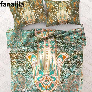 India Bohemian Bergam Duvet Cover set with pillowcase 3pcs bedding sets  Full Queen King best gift bedline